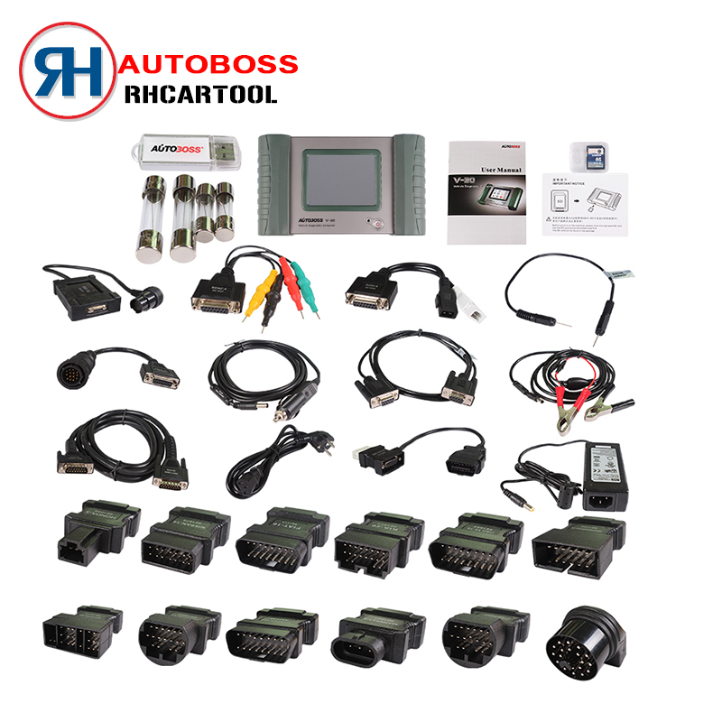 100% Original AUTOBOSS V30 Vehicle Diagnostic Computer Update Online AUTOBOSS V30 Auto Scanner without Plastic box DHL Free(China (Mainland))