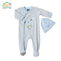Striped Baby Romper With Baby Cap Oeko tex 100 Certified Class I Wear Spring Autumn Winter