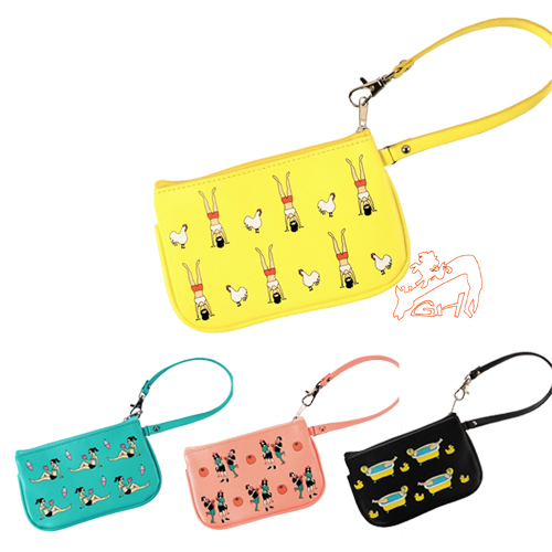 Free Shipping YIZI Genuine New Hello, Holidays Series Theft Find Different Idea Purse Storage Bag Coin Purse Small Bag 4 Style(China (Mainland))