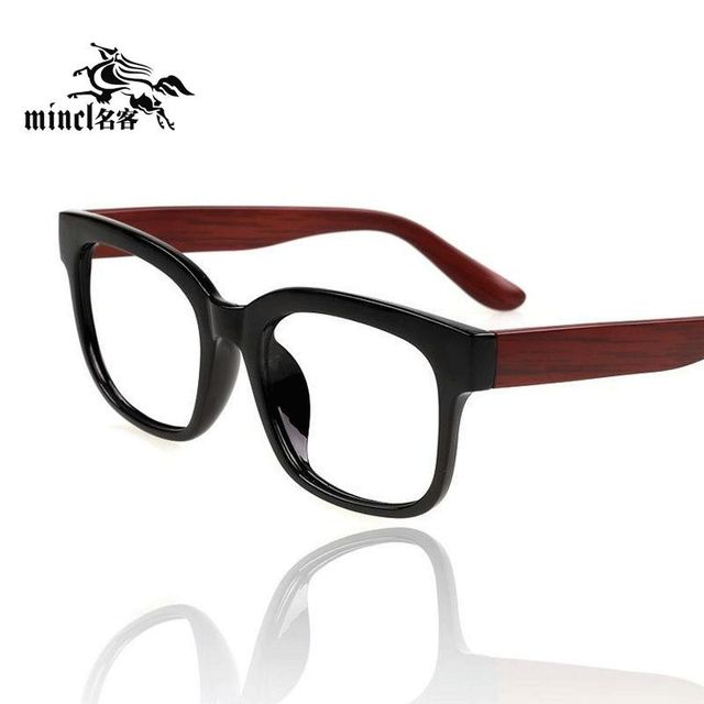 Gimmax glasses vintage plain mirror black glasses frame fashion eyeglasses frame myopia