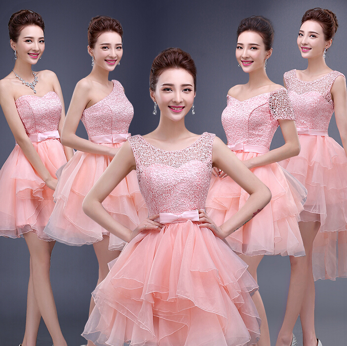 Popular peach color bridesmaid dress buy cheap peach color for Different colored wedding dresses