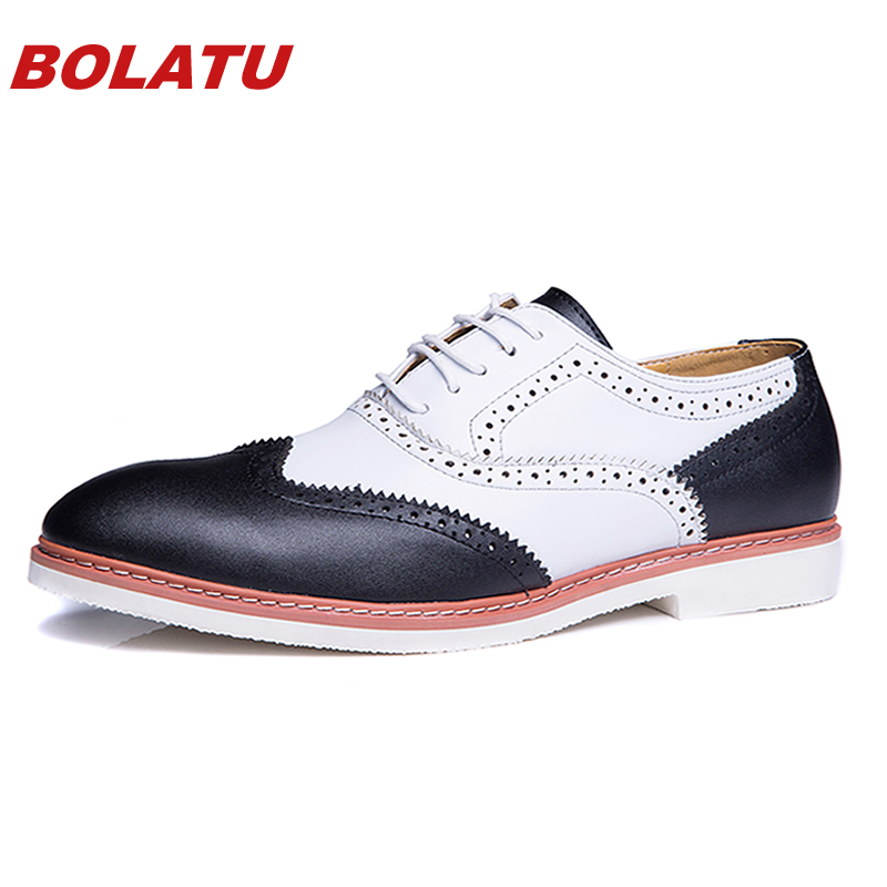 New 2016 Men Oxfords Shoes For Men Dress Shoes Genuine Leather Office Shoes Spring Summer Zapatos Hombre size 38-44 Men Flats<br><br>Aliexpress