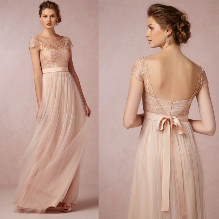 Sexy custom made champagne chiffon maid of honor dresses for Made of honor wedding dress