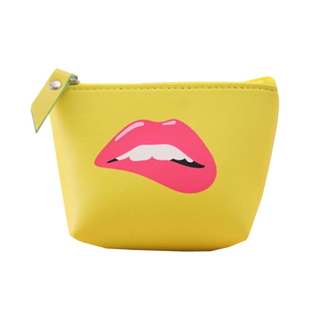 Chic Mini Waterproof Cute Lovely Bag Lady Woman Handbag Key Cosmetic Makeup Bag PU Coin Purse Wallet Storage Bag Earphone Bags
