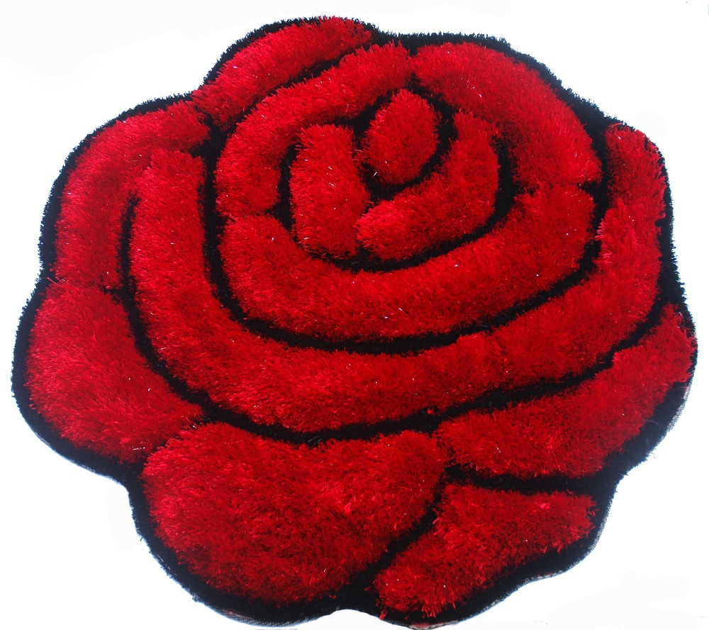 Rose Shape Carpet Diameter 90 cm Europe Style Thick Super Soft Solid For Floor Mat /Chair/ Living room/Bedroom/Hotel 111(China (Mainland))