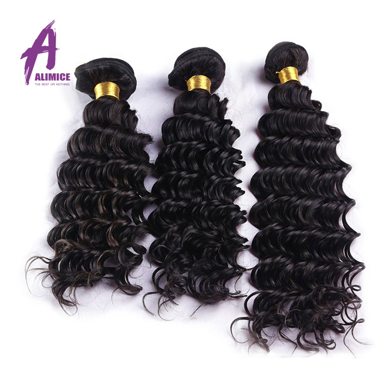 one piece Alimice Hair Product Kinky Curly Virgin Human Hair Weaves Wavy Hair Extension<br><br>Aliexpress