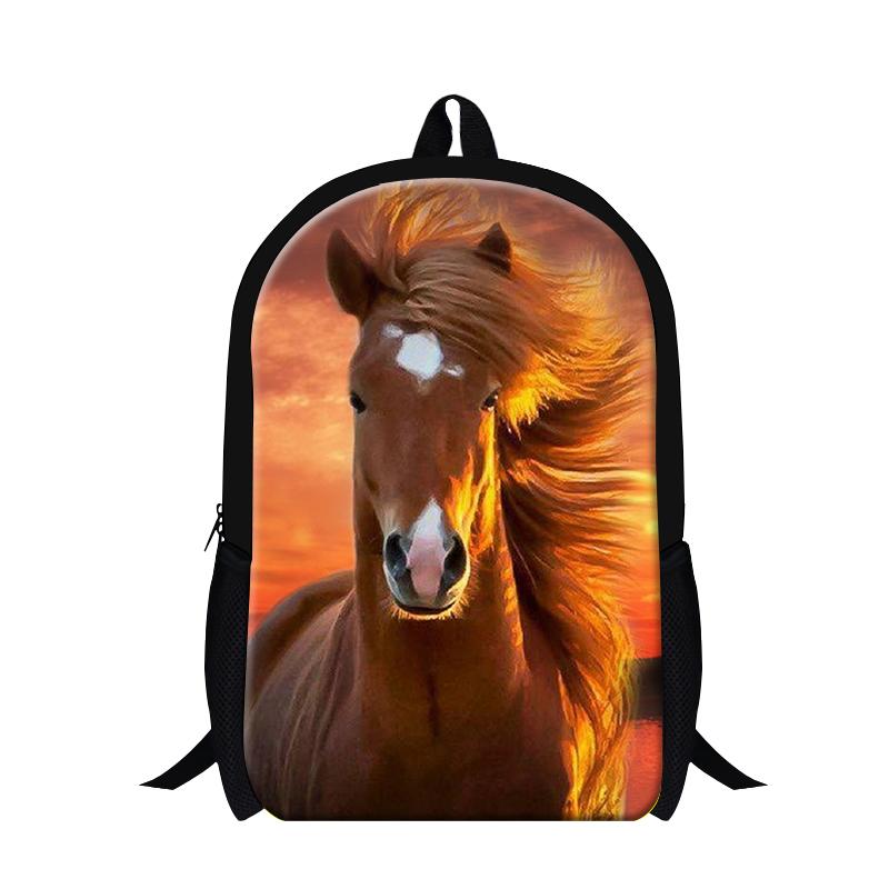 Designer plush horse backpacks for teens,runing horse animal back pack for men,children's school bag bookbags,stylish backpacks(China (Mainland))