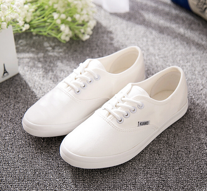 2015 Four Seasons New shoes woman simple and comfortable casual canvas shoes lace flat heels<br><br>Aliexpress