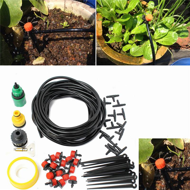 ... Irrigation 10M Hose 15 Drippers-in Watering Kits from Home & Garden on