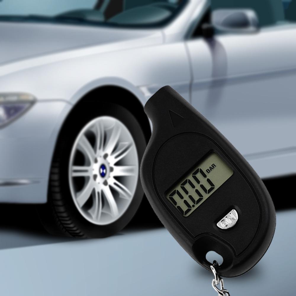 Оптовая продажа 1 шт. мини-брелок жк-цифровой шин манометр авто испытаний мотоциклов с литиевая батарея
