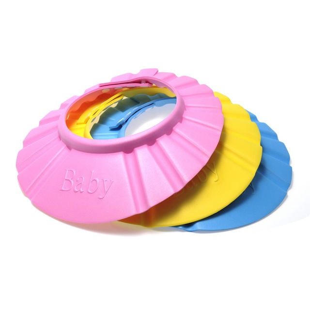3 цветов мода мягкие дети шампунь ванна для душа ребенка мыть волосы щит