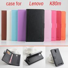 9 color Classic Leather case For Lenovo K80m K 80m k80 m Flip Cover case housing With Card Slot for LenovoK80m Phone Cover Cases