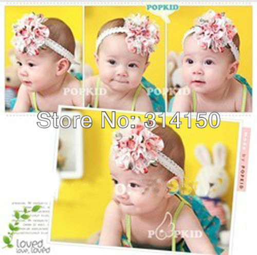 FREE SHIPPING----baby girl's hairband headwear hair accesories children flowers ornament headbands girl's hair band 2pcs/lot 701