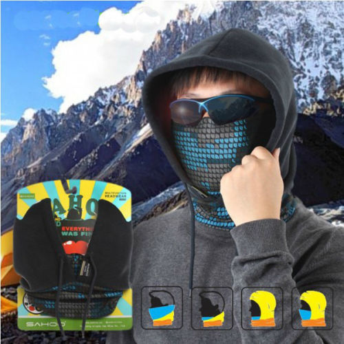 Details about New Hiking Bike Bicycle Neck Warm Protect Face Mask Guard Fleece Hoodie Cap Hat(China (Mainland))
