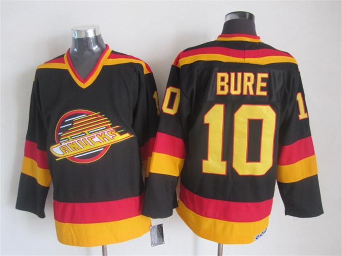 2015 New Vancouver Canucks Mens Jerseys #10 Pavel Bure Black CCM Vintage Ice Hockey Jersey 2293<br><br>Aliexpress