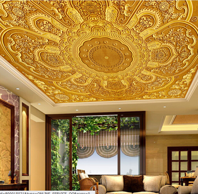 Ceiling murals wallpaper 2017 2018 best cars reviews for Architectural wall mural