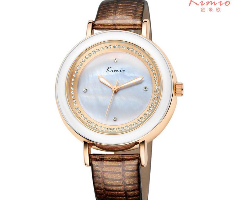 Elegant Series Women Fashion Crystals Watches Quartz Shell Analog Wristwatch Brand Korean Leather Strap Clock Relojes NW3808<br><br>Aliexpress