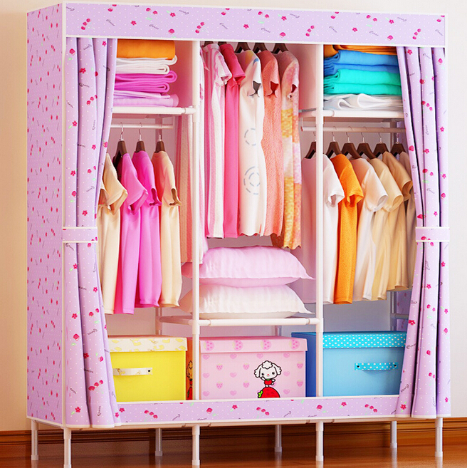 Bonfil simple wardrobe cabinet double folding cloth reinforcement combination of IKEA large special offer(China (Mainland))