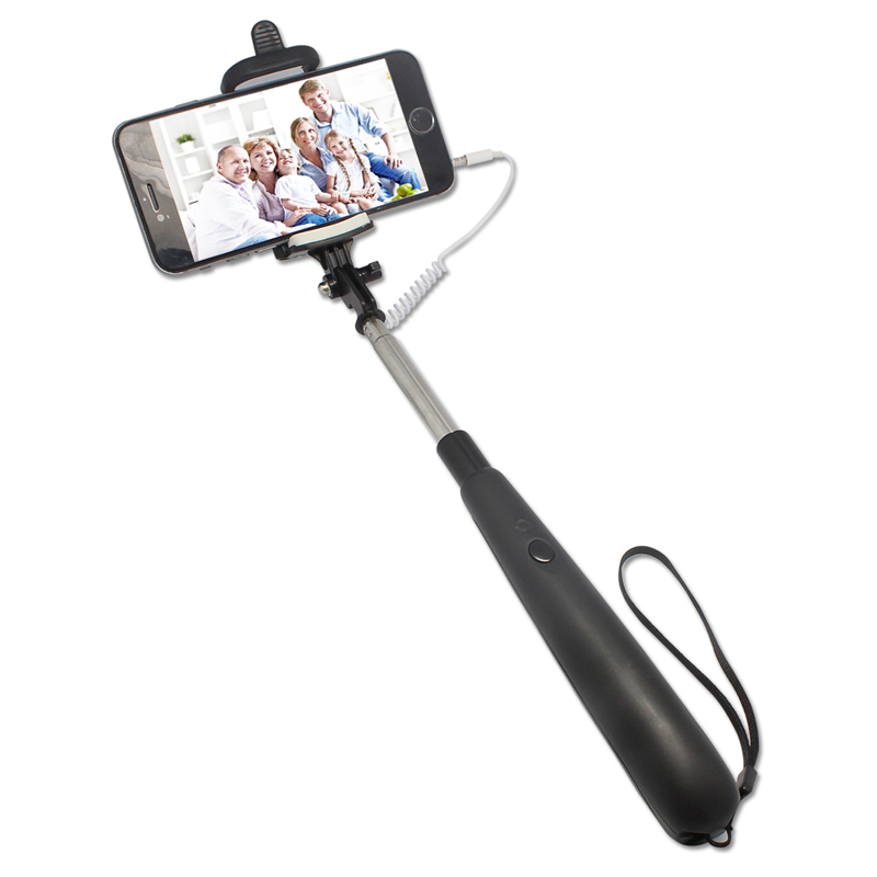 colorful foldable cable take pole selfie stick monopod with cable handheld tripod groove selfie. Black Bedroom Furniture Sets. Home Design Ideas