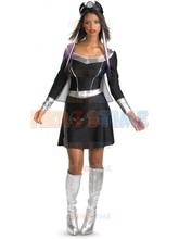 X-men costume female Black & Silver Spandex X-men Storm Superhero costume hot sale halloween cosplay Dress