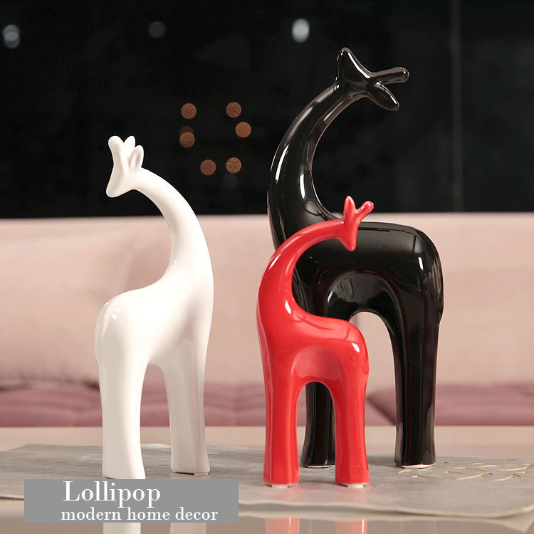 aliexpresscom buy jingdezhen animal ceramic arts and crafts home decor decoration accessories modern family abstract figurines ceramic craft deer from
