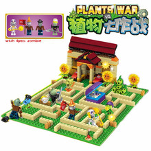 Buy Plants vs Zombies Garden maze struck game Building Blocks Bricks Toys Like Lepin figures world Minecraft for $21.66 in AliExpress store