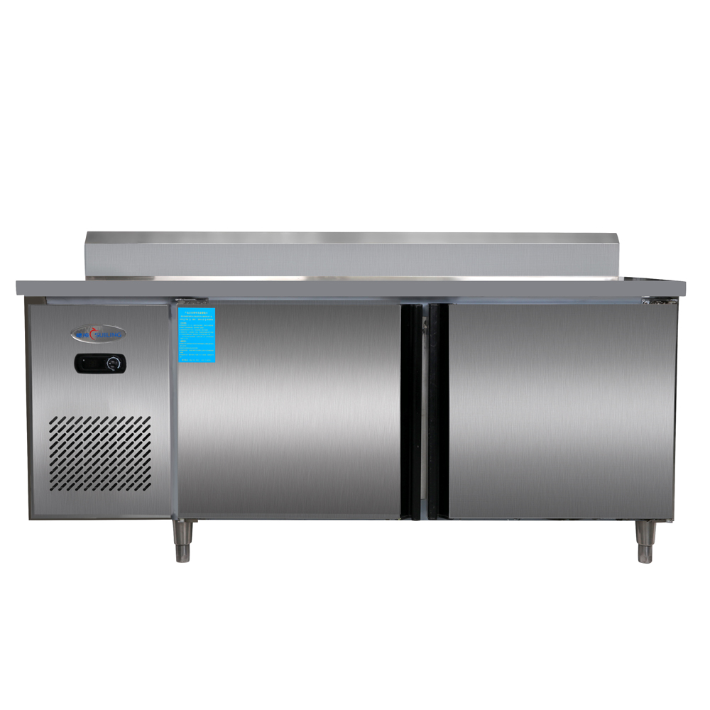 1.5m 300L Stainless Steel Kitchen Under-Counter Worktop Benchtop Commercial Fridge Refrigerator Freezer 10.6 cubic feet Cabinet(China (Mainland))