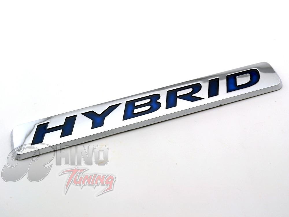 186mm Blue HYBRID Badge Emblem Car Wind Side Boot Rear Trunk Decal Fit SRX CROSSOVER ESCALADE ESV Sticker(China (Mainland))