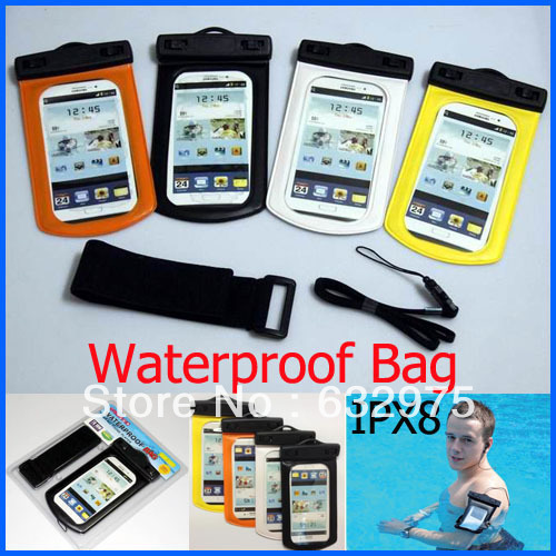 10m Underwater Waterproof Case Diving Bag + neck strap + Arm Velcro band for Samsung Galaxy S3 S4 i9300/i9500 Waterproof Pouch(China (Mainland))