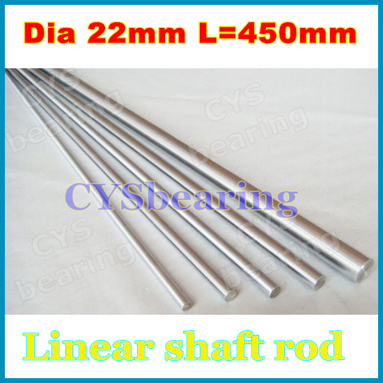 22mm harden linear shaft Dia 22mm L 450mm Chrome Precision Hardened Rod shaft Linear Round Bar Shaft(China (Mainland))