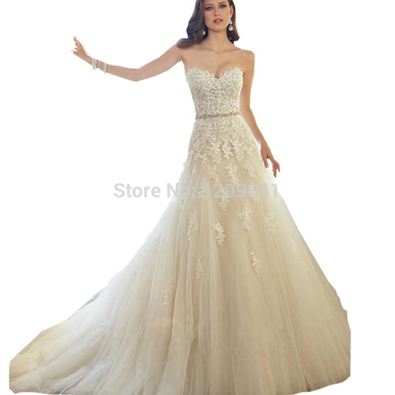 Marfil vestido de boda 2015 caliente venta sweetangel white lace boda vestidos vestido de noiva precios en euros de tamaño más de moda(China (Mainland))