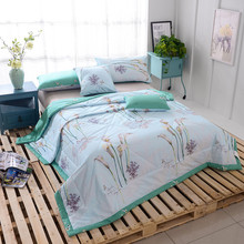 1 PCS Bed Sheet King Queen Set, Summer Quilts Bedding,lily pattern Blanket Throws On Sofa/Bed/Plane Travel(China (Mainland))