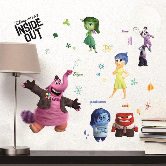 Мультфильм наизнанку стены стикеры для детей номеров наклейки на стены гнев страх печаль радость отвращение Bingbong арт-mail украшения