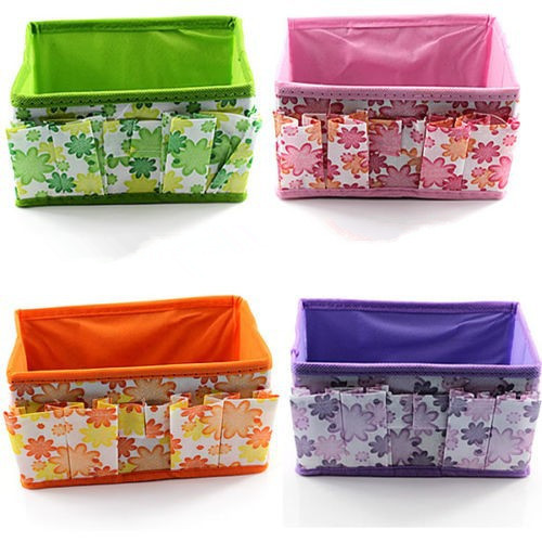 Bling Recommend Free Shipping Top Seller 1pcs/lot Flowers Woven Cosmetic Storage Box Multicolor Gift For Family 18*10*10cm TY130(China (Mainland))