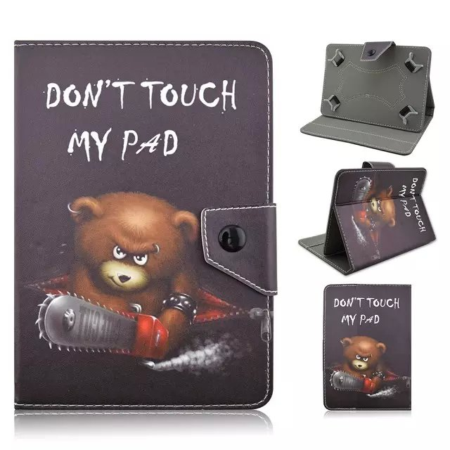 Best Quality Cute Print Leather Universal Cover For HP 8 1401 / Compaq 8 7.85 / AIWA H677 / Ampe A80 A83 Case Flip PU Tablet Bag(China (Mainland))