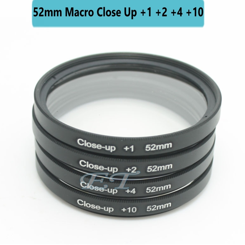 52mm Macro Close Up Filter Lens set +1 +2 +4 +10 for Gopro NIKON D5300 D5200 D5100 D5000 D3300 D3200 D3100 D3000 Camera Lenses(China (Mainland))