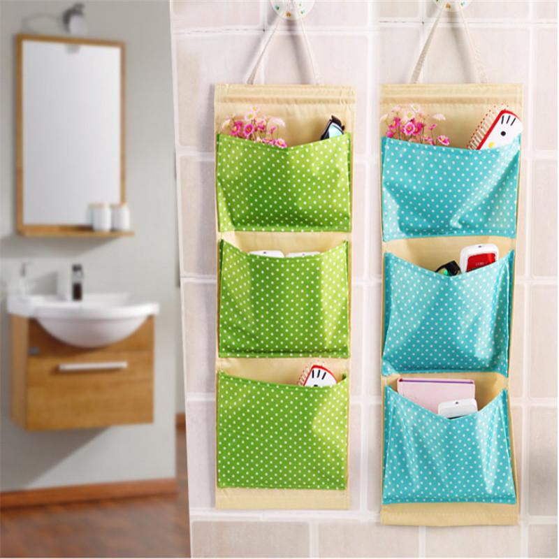 Creative Wall Hanging Storage Bag Oxford Makeup Cosmetic Storage Box Hang Bag Organiser Foldable Behind The Doors Storage Bag(China (Mainland))