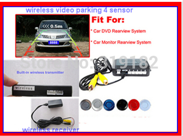 dual core cpu car video parking sensor wireless parktronic 4 /6 /8 with video on TFT LCD monitor /DVD(China (Mainland))