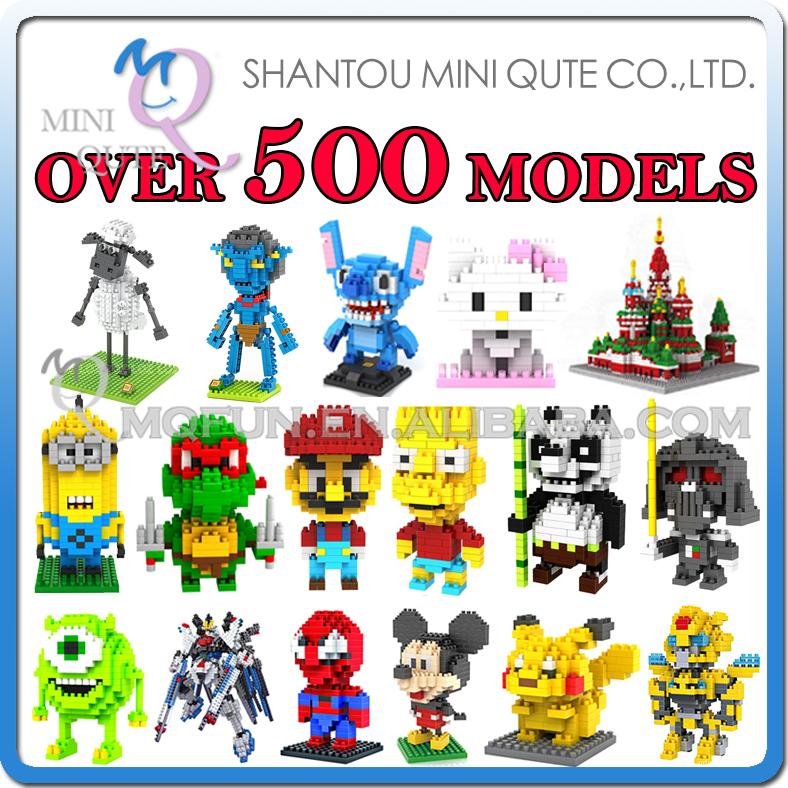 Детское лего Qute , 500 LOZ 3D nano & 00001 детское лего gz toys 3d as show