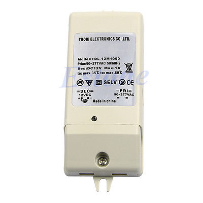 J34 Free Shipping New LED Driver Power Supply Adapter Electronic Transformer DC 12V 1A(China (Mainland))