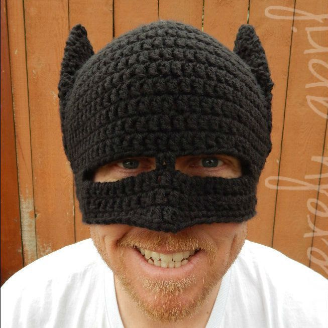 Novelty Handmade Winter Beanie Crochet Cool Batman Mask ...
