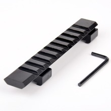 "11mm Aluminum Alloy Picatinny Weaver Rail Mount 10 Slots"" 124mm Mount For Rifle Scope Hunting Gun Accessories"