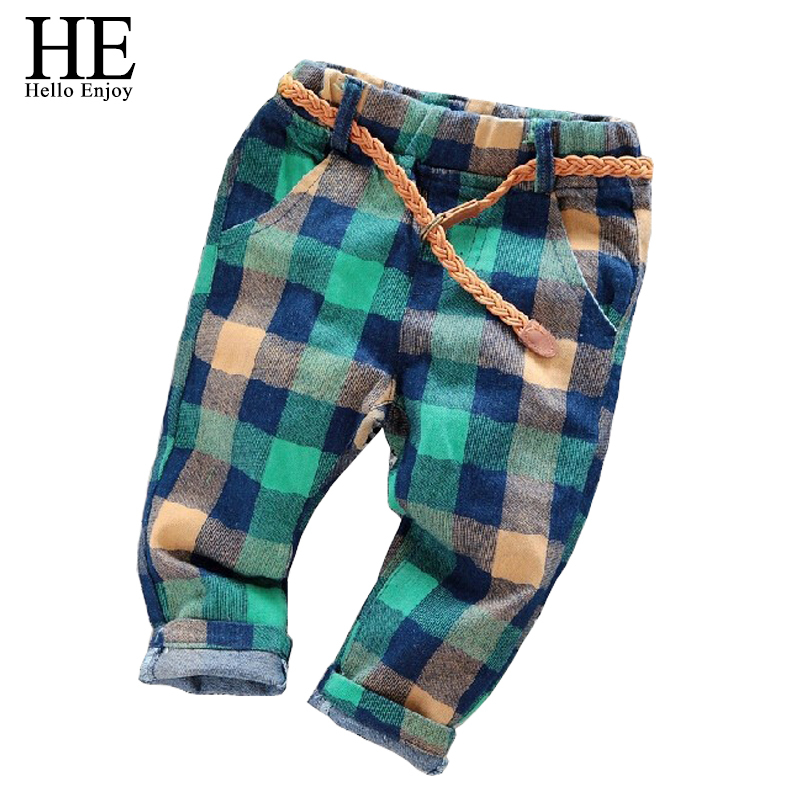 new 2015 autumn kids pants baby winter pants for boys children trousers 3-7 years boys pants plaid Kids jeans(China (Mainland))