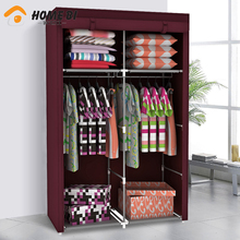 Family background than simple dust cloth reusable removable wardrobe closet wardrobe 14100D-2(China (Mainland))