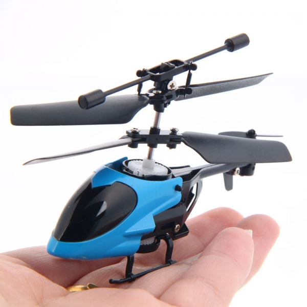 The Smallest RC Helicopter QS5013 2 Channel Remote Control mini RTF gyro Helicopter gift toy sell by random color(China (Mainland))