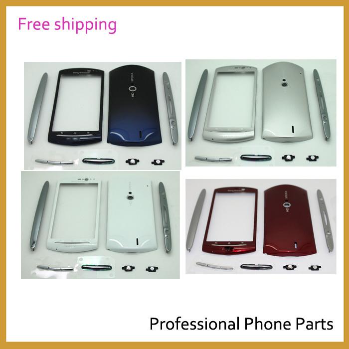 Original Fascia Full Housing Cover Case For Sony Ericsson Xperia Neo MT11i MT11 MT15 MT15i, Blue /Sliver /Red /White Color(China (Mainland))