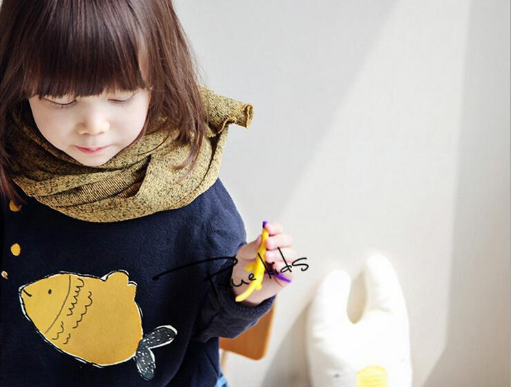 Bubble fish retails children&baby girl Batwing sleeve thicken fleece cotton winter hoodies sweater Kids sweatshirt Cute(China (Mainland))