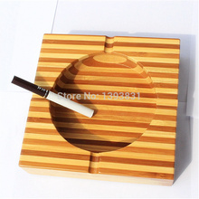 Chinese traditional square ashtray home decoration quality bamboo material exquisite polishing decent apperance creative gift(China (Mainland))