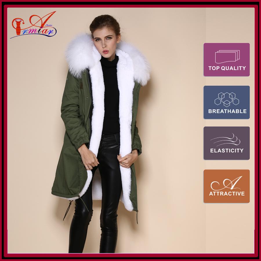white faux fur jackets women real reccoon dag furs collar long style coat mr & mrs unisex M002-1 - Guangzhou Armiar Fur Parkas Store -- Meifng Brand store