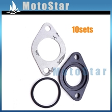 Buy 10x 25mm Manifold Carburetor Intake Pipe Gasket Spacer Seal Chinese 110cc 125cc 140cc Engine XR CRF SSR KLX Pit Dirt Bike for $11.95 in AliExpress store